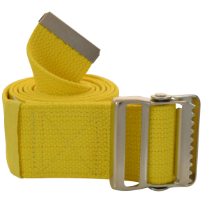 "Secure® 60"" Yellow Gait Belt w/ metal buckle"