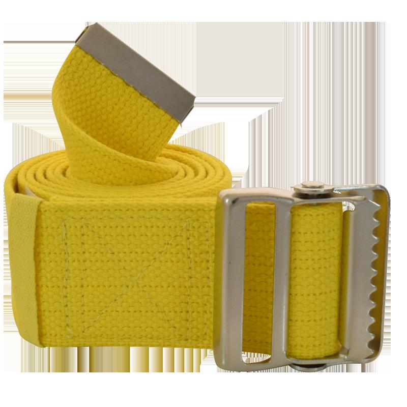 """Secure® 60"""" Yellow Gait Belt w/ metal buckle"""
