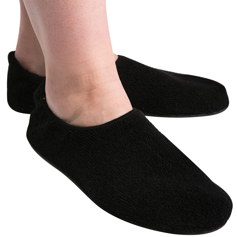 Fall Management Slippers in Black