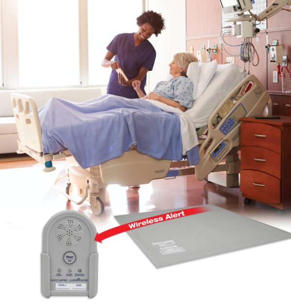 Wireless Floor Mat Alarm Set for elderly fall prevention